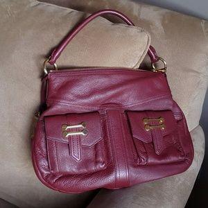 RALPH LAUREN Burgundy Dark Red Hand Bag Purse EUC